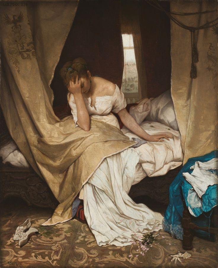 "auriferis929: ""  Gabriel Cornelius von Max (1840-1915) Morning (Fading). 1870 St. Petersburg, the Hermitage. Габриэль Корнелиус Макс (1840-1915) Утро (Увядание).1870 Санкт-Петербург, Эрмитаж. """