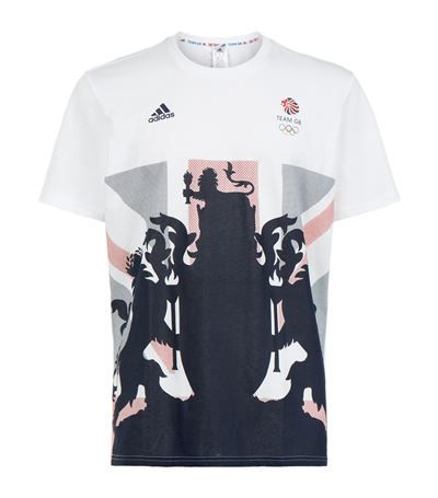 ADIDAS ORIGINALS Team Gb Flag Print T-Shirt. #adidasoriginals #cloth #