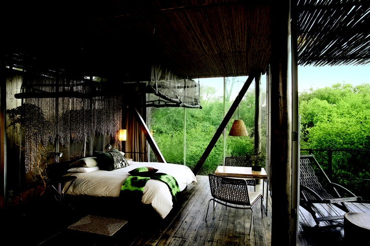 Tucked away in the bush, this luxurious designer retreat is perfect for a safari honeymoon - Singita Sweni, Kruger National Park #SouthAfrica