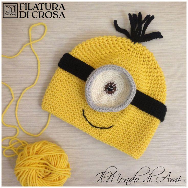 """Minion Mania! Berretto Minion realizzato con filato """"Zara Plus"""" Filatura di Crosa #berretto #hat #uncinetto #fattoamano #minions #despicableme #cattivissimome #minion #crochet #handmade"""