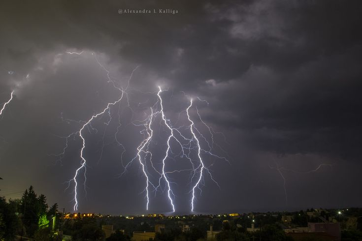 This is my first attemp to capture the lightnings.