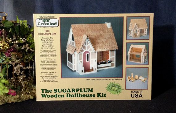 Wooden Dollhouse Kit Greenleaf Sugarplum by MelissaChaple on Etsy