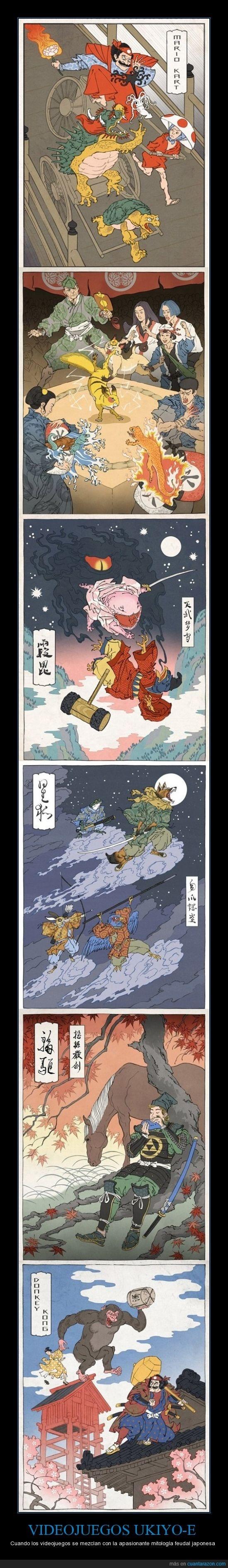 VIDEOJUEGOS UKIYO-E - Cuando los videojuegos se mezclan con la apasionante mitología feudal japonesa