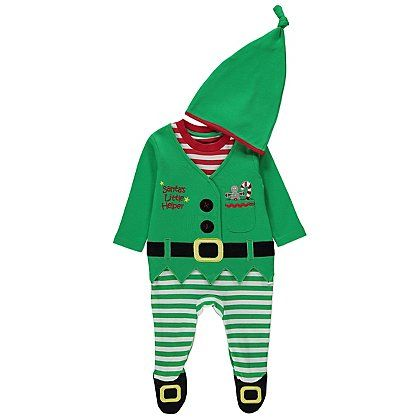 Elf All in One & Hat Baby Set | Baby | George