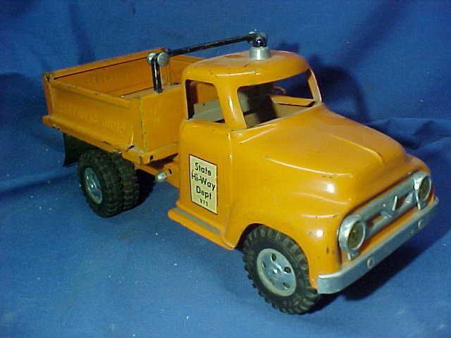 1950s tonka pressed steel state hiway toy hydraulic dump truck - Toy Dump Trucks
