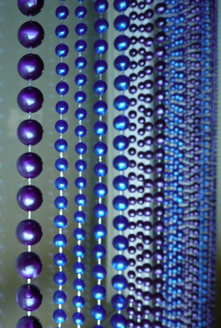 Teal curtain beads - Faux Pearl Beaded Curtain Blue Purple 34 00