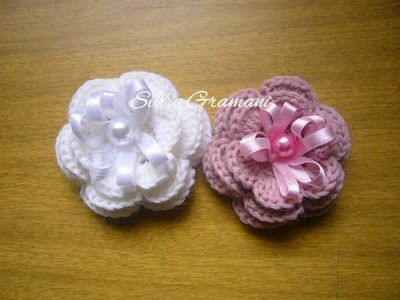 Flores croche - tutorial