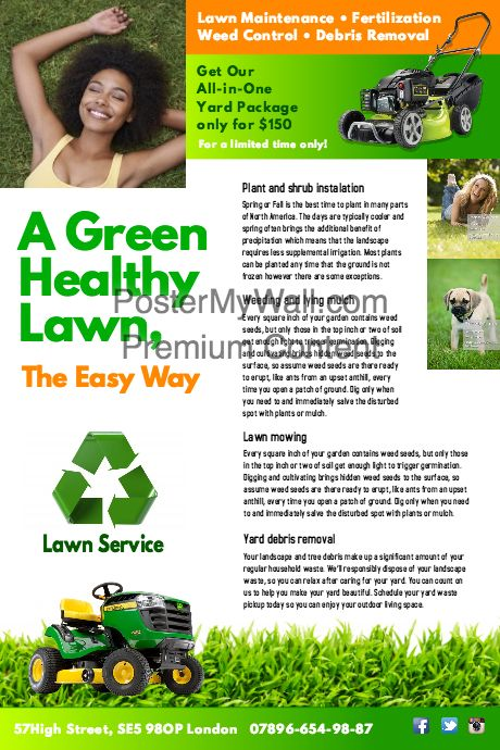 Best Lawn Care Landscaping Door Hangers Images On