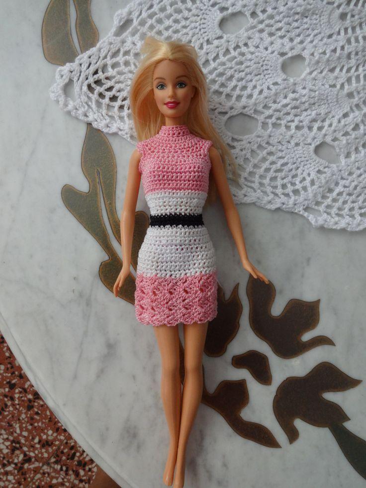 Excelente Los Patrones De Ganchillo Ropa De Muñecas Barbie ...