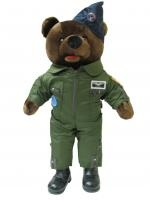 Stuffed military bears collected from bases around the world.