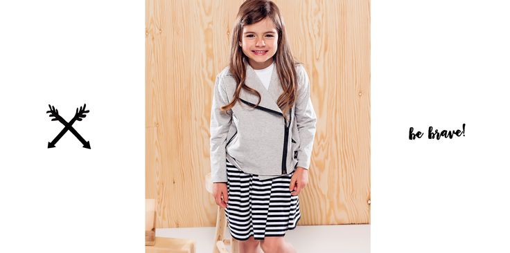 Happy girl, Grey jacket  #dress #girl #happy #jacket #bikerjacket #cute #longhair