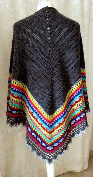 ClaCavi: Sunday Shawl Crochet pattern Pinterest ...