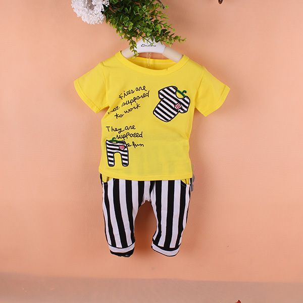 $5.10 (Buy here: https://alitems.com/g/1e8d114494ebda23ff8b16525dc3e8/?i=5&ulp=https%3A%2F%2Fwww.aliexpress.com%2Fitem%2Fsummer-style-baby-boy-clothes-sets-roupas-de-bebe-menina-cotton-for-little-boys-toddler-12M%2F32349193642.html ) summer style baby boy clothes sets roupas de bebe menina cotton for little boys toddler 12M  18M 24M for just $5.10