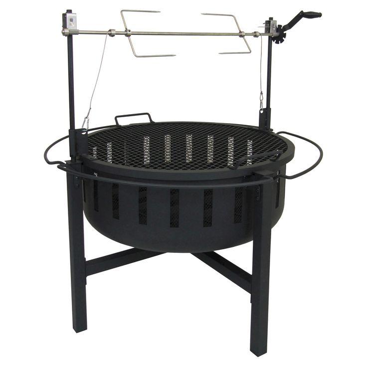 Landmann Fire Rock Grill & Fire Pit Steel - Black