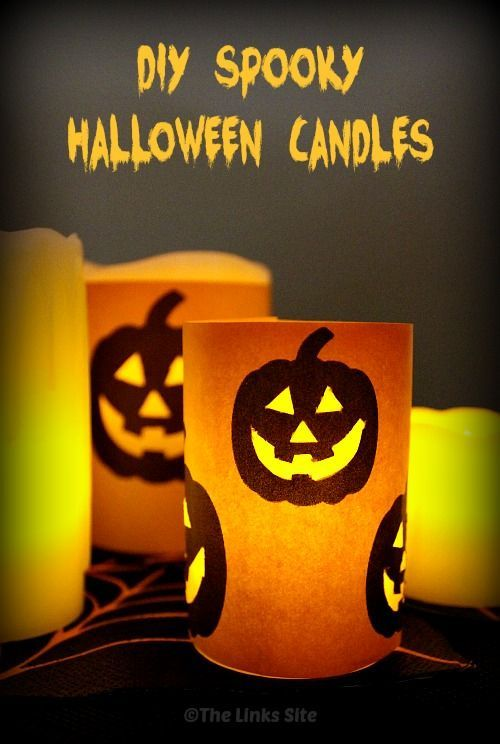 Make your own spooky Jack O Lantern Halloween candles thelinkssite - halloween decorations to make on your own
