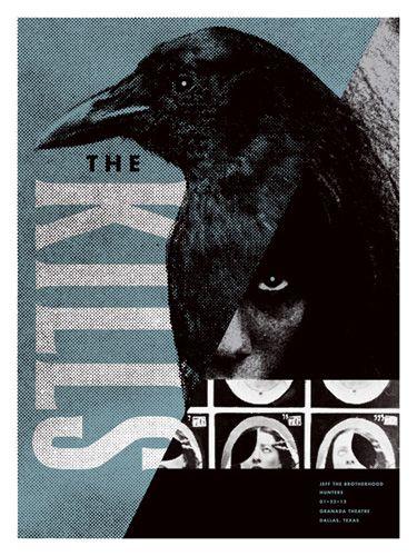 The Kills concert poster  at the Granada Theatre, Dallas- Jan 22, 2012