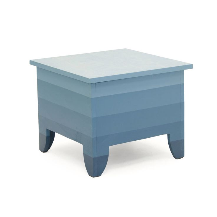 Coffee table with storage- striped - blue by SandraCatsburg on Etsy https://www.etsy.com/listing/157911453/coffee-table-with-storage-striped-blue