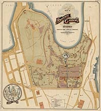 Plan of the Botanic Gardens, Sydney, 1914.