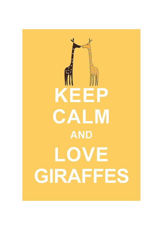 Keep Calm and Love Giraffes   BUY 2 Get 1 by simplygiftsonline, $10.80