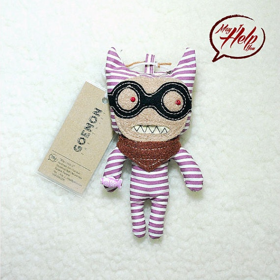 03 Goemon  The Thief 9 Lives Cat Project  Handmade by MayIHelpU, $8.00