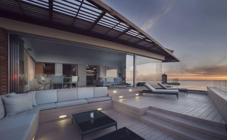 Deck Outside Lounge #InfinityPool  Ellerman House #Villa Two. #entertain #architecture #luxury #Travel
