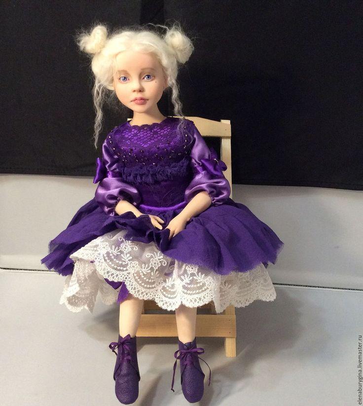 Купить Сонечка. Авторская кукла. Нашла свой дом - фиолетовый, авторская кукла, Будуарная кукла