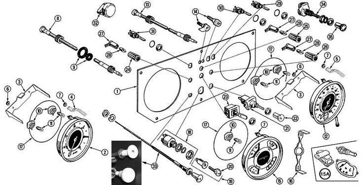 Morgan Motors +4 Dash Panel 1961-68 Parts | gauge, speedometer, tachometer