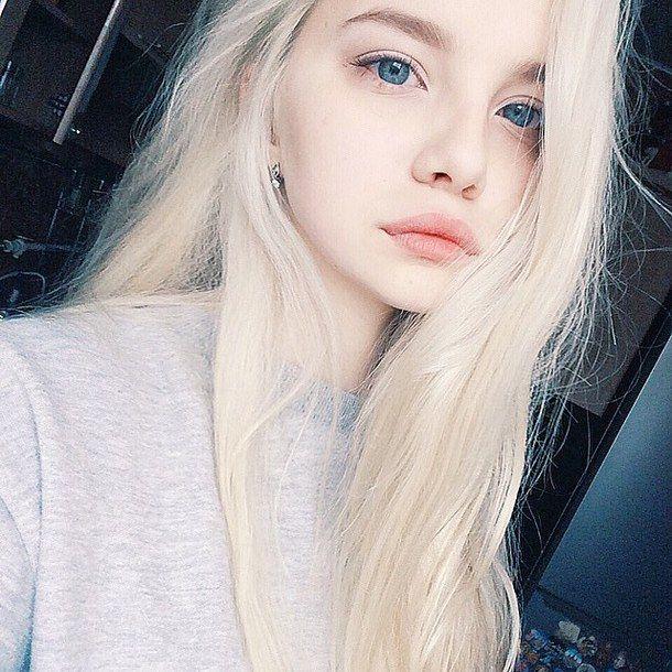 голубые глаза, кукла, девушка, Tumblr, белые волосы