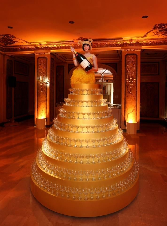 Great Gatsby Premiere Party Champagne Tower It S A