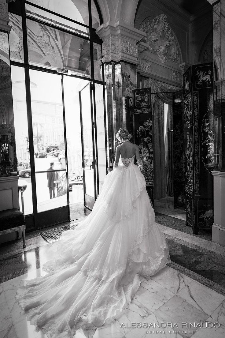 alessandra rinaudo 2017 bridal long fingerless lace gloves strapless deep sweetheart v neck heavily embellished bodice sheath wedding dress layered long train (barbarella) bv