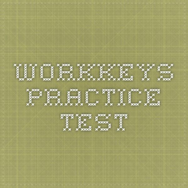 WorkKeys Practice Test