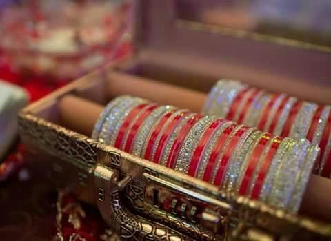 Designer Bridal Chura.  Website For Purchase : www.weddingchura.com Whatsapp For Purchase : +919416307694