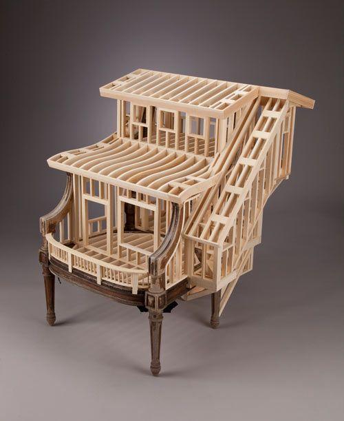 O Artista E Carpinteiro Ted Lott Criou Uma Série De Pequenas Casas Com  Móveis Clássicos.