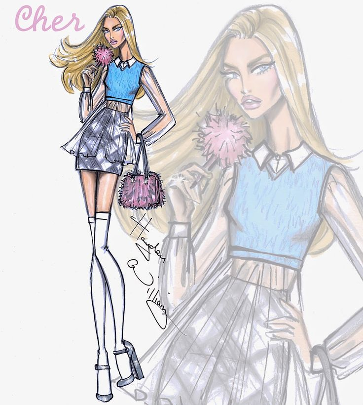 Hayden Williams Fashion Illustrations: Clueless collection by Hayden Williams: Cher Horowitz
