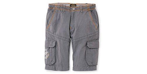 Pantalón corto. Cómodo. Material resistente. Cintura ajustable. Diseño deportivo. Múltiples bolsillos. Color gris. Material: 100% algodón