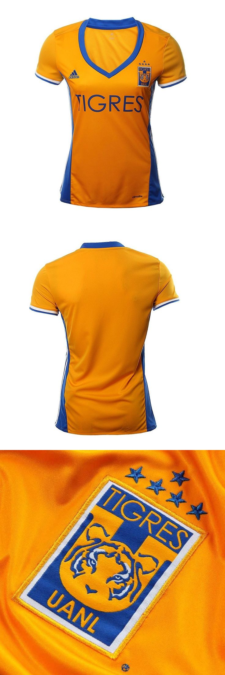 Women 159098: Tigres Uanl Campeon Adidas Women Home Jersey 2016/17 (5Ta. Estrella) BUY IT NOW ONLY: $99.99