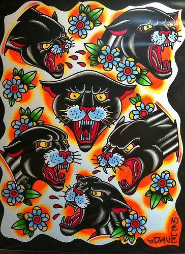 panther tattoo flash - Google Search   INK   Traditonal ...