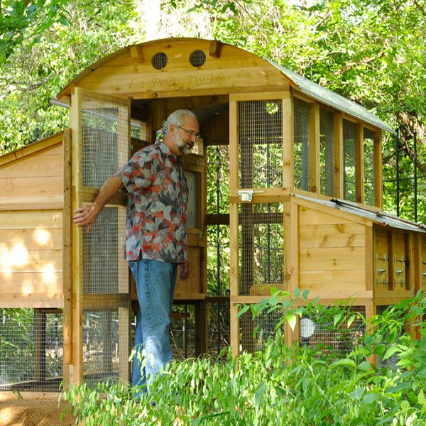 Round Top Walk In Chicken Coop Kit, With Room For 20 Hens!
