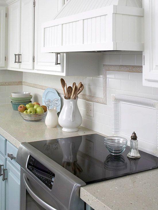 kitchen backsplash ideas - Ubahn Fliese Backsplash Ideen