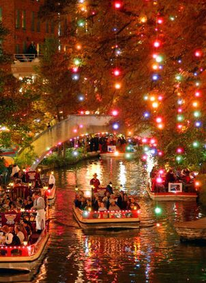 Beautiful Christmas lights ,  San Antonio River Walk : Jewel of the city , Texas - My favorite place in the world - San Antonio Texas