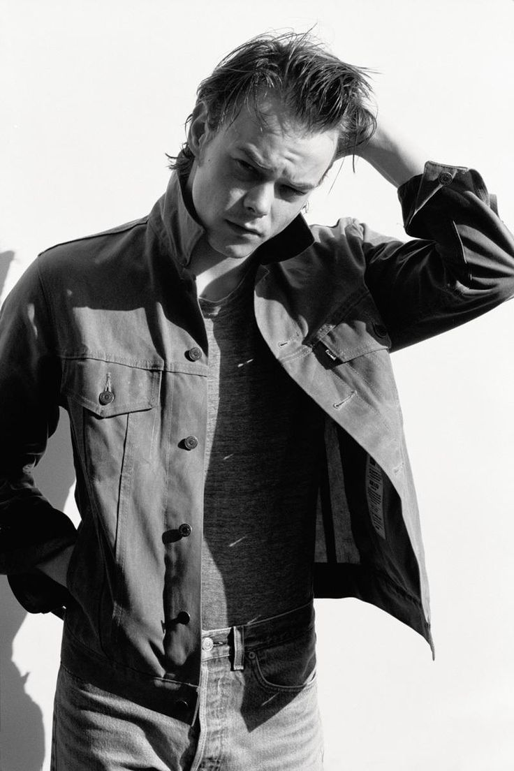 Charlie Heaton Stranger Things' Jonathan Byers Jacket Levi's Made & Crafted. Photography Matt Jones i-D