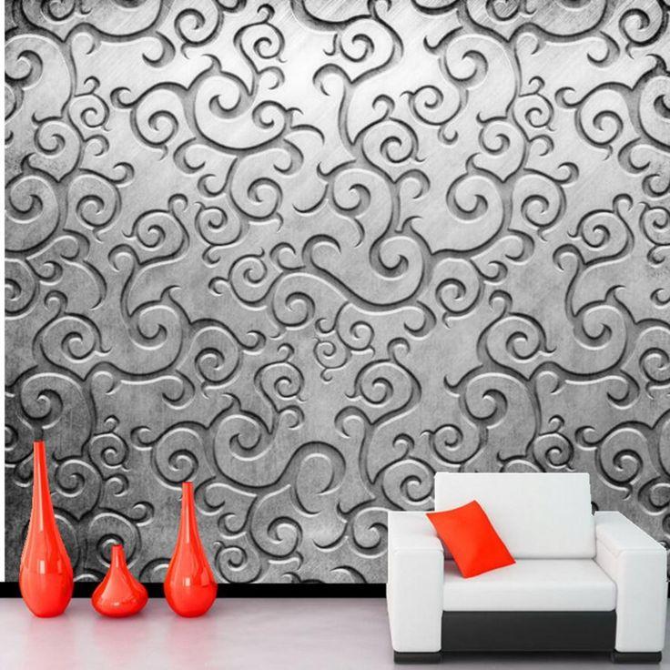 Обработка металлов картины обои, Ресторан бар гостиной диван тв спальне обои для стен 3 D тисненые обои