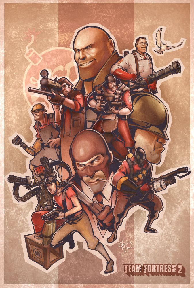 Team Fortress 2 Poster by Ebae on DeviantArt