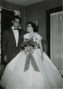 This is my mother's graduation dress.  All the girls wore big, white hoop gowns and carried a dozen red roses.  The guys wore white suits.  This is my mom & dad going to the ceremony.Graduation Ceremonies, Mothers Graduation, Hoop Gowns, White, Red Rose, Dozen Red, Graduation Dresses, Girls Wore, Guys Wore