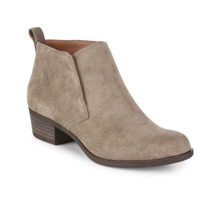 Details about Lucky Brand Bianna ankle Boots Booties joanna Gaines brindle, taupe, tan 8.5