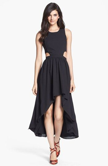 Lovers + Friends 'Foxy' Cutout High/Low Midi Dress available at #Nordstrom - willa $172