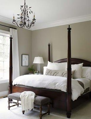 25 best ideas about four poster beds on pinterest 4 for Best neutral paint color for dark room