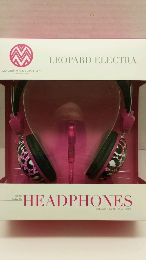 Macbeth collection leopard electra Pink Headphones. $20.00 Free shipping