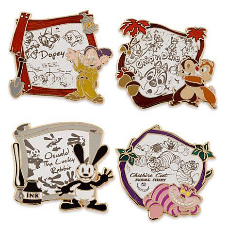 Disney Animation Limited Edition Pin Set   Disney Store