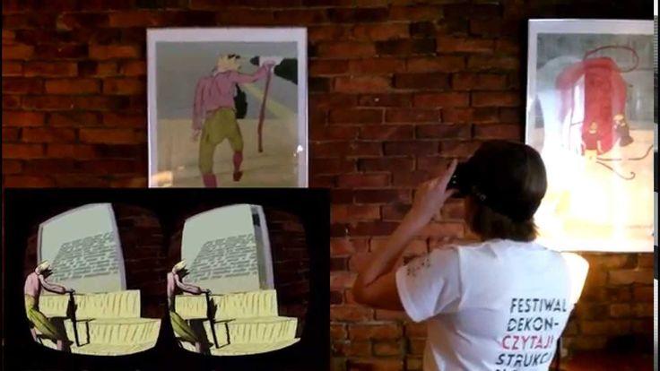 """Festiwal Dekonstrukcji Słowa """"Czytaj!"""" - Interactive 3D visualisations  #vr #durovis @maciejsienczyk @witszostak"""